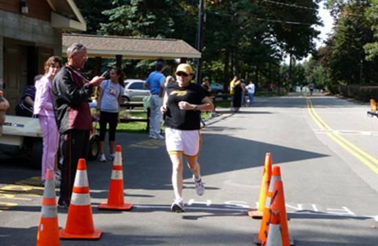 Brenda finishing her 5K
